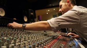 Joe Sharratt mixing in the recording studio