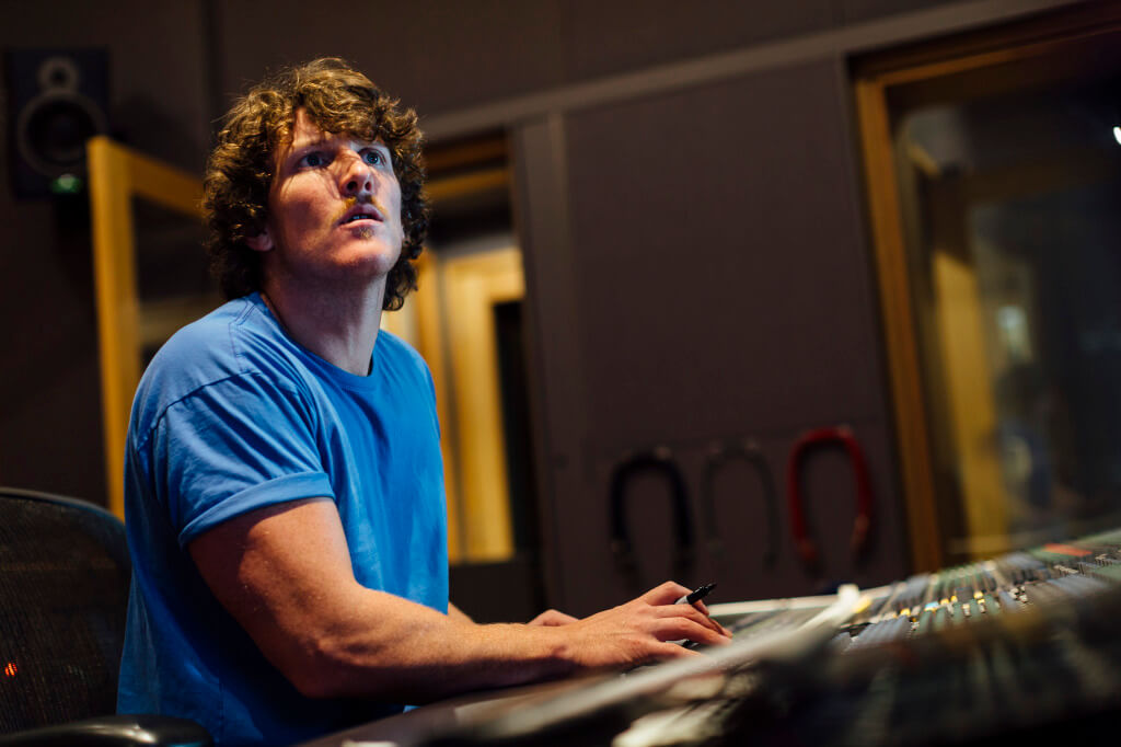 The serious face of Jimi Wyatt shows how serious approach have in what he does at Ginger Studios