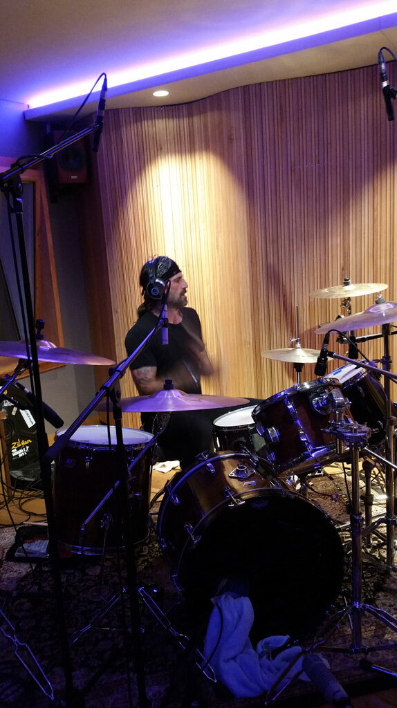 From the recording of the drums for a song of Rumjacks