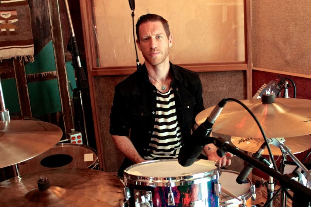 Adam Weston in L.A playing the drums