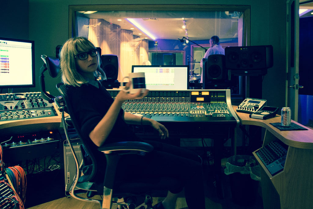Iluka in the Control Room at A Sharp Recording Studios in Sydney